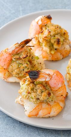Oven Baked Stuffed Shrimp Seafood Appetizers Seafood Appetizers Appetizers Appetizers for a crowd Appetizers parties Shrimp Dishes, Fish Dishes, Fish Recipes, Appetizer Recipes, Seafood Appetizers, Recipies, Dinner Recipes, Coconut Shrimp Recipes, Seafood Boil Recipes