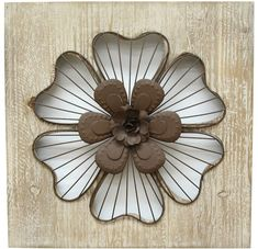 Very pretty Rustic design. Stratton Home Decor Rustic Flower Wall Decor Metal Flower Wall Decor, Iron Wall Decor, Rustic Wall Decor, Rustic Walls, Wall Art Decor, Room Decor, Floral Wall, Art Floral, Rustic Flowers
