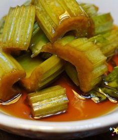 심하게 고소하고 특히 부드러운 밑반찬 ' 진미채볶음 만드는 법' Diet Recipes, Recipies, Cooking Recipes, Pickled Okra, Pickels, Korean Food, Korean Recipes, Kimchi, Celery