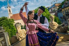 Folk Costume, Costumes, Folk Dance, Statue Of Liberty, Folk Clothing, Couples, Budapest, Ireland, How To Wear