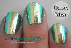 """Walk In My Eye Shadow: """"Ocean Mist"""" nail art foils"""