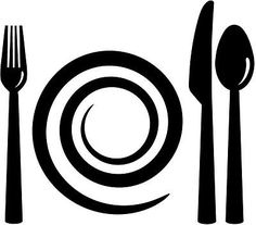 Fork Knive Plate Spoon Setting Vinyl Decal Wall Car Sticker