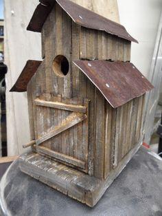 Vintage Birdhouse, Rustic sawmill birdhouse, Functional, horse barn birdhouse