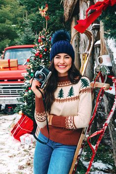 The Evergreen Sweater Cozy Fashion, Winter Fashion Outfits, Sweater Fashion, Autumn Winter Fashion, Snow Fashion, Outfits Otoño, Sweater Outfits, Fall Outfits, Holiday Sweater