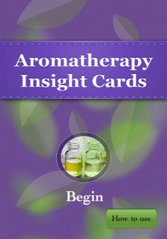 Phone app for using my Aromatherapy Insight Cards on the run.