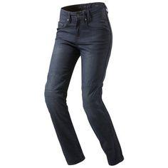 Rev'it Broadway Women's Motorcycle Jeans. Armor Ready. Looks like a mid-rise fit.