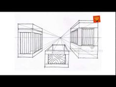 ▶ Perspective Drawing: Intermediate 06 inter one point objects 01 Drawzania.com