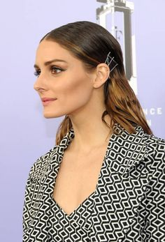 Olivia Palermo hair detail attends 2018 Fragrance Foundation Awards at Alice Tully Hall at Lincoln Center on June 12 2018 in New York City
