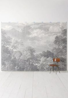 color story: gray days. Zuber Wallpaper, Wood Wallpaper, Wallpaper Panels, San Francisco Girls, Serenity Now, Touch Of Gray, Landscape Wallpaper, Color Stories, Home Photo