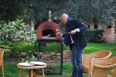 """Luca cooking with a """"Subito Pronto"""" Portable Oven"""