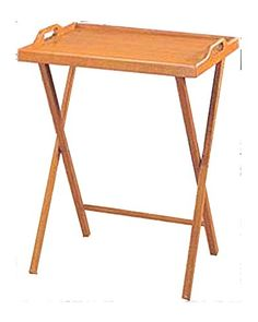 CCS 20x14.25x25 Inch Wooden Folding Table