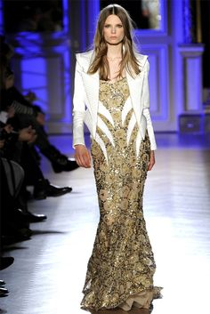 lines curving into waist; without jacket; Zuhair Murad Haute Couture Spring 2012