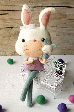 bunny girl with puppet plush doll pattern...
