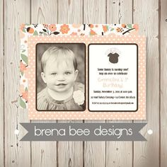 Personalized  Photo Emmeline Style  Peach Polka by brenabeedesigns, $16.75