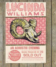 Lucinda Williams Letterpress Poster