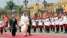 [FOTOS] El encuentro del presidente Ollanta Humala con el emir de Qatar en Palacio de Gobierno