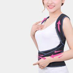 6a1a219a67 Women Men Posture Corrector Shoulder Brace Back Support Belt Adjustable  Black Y Vest Design Belts -