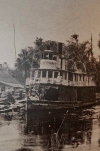 | Paddle-Wheel Steam Boat on the Silver River