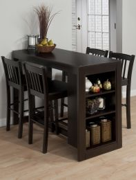 810-48 Maryland Counter Height Table with Installed Side Display Shelving in Merlot totally in love with this table