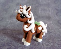 Mini Gingerbread Unicorn 2 by DragonsAndBeasties on Etsy