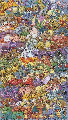 Epic Pokemon Patterns (multiple generations). Love this... need more practice before I take it on though!