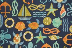 WISH THIS HAD SOME RED AND NOT AS MUCH ORANGE -- OTHER COLORS ARE GREAT. Novelty Outdoor :: Mill Creek Seapoint - Franco Printed Poly Outdoor Fabric in Neptune $8.95 per yard - Fabric Guru.com: Fabric, Discount Fabric, Upholstery Fabric, Drapery Fabric, Fabric Remnants, wholesale fabric, fabrics, fabricguru, fabricguru.com, Waverly, P. Kaufmann, Schumacher, Robert Allen, Bloomcraft, Laura Ashley, Kravet, Greeff