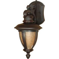 Nuvo Lighting Galeon Collection One Light Energy Efficient Fluorescent Exterior Outdoor Wall Lantern in Old Penny Bronze Finish