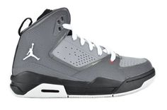 size 40 f2ab5 537cc Jordan SC- 2 (GS) Flight Big Kids Basketball Sneakers Grey   White   Red  454088-002-7