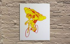 """'Special Delivery' by Ryan Duggan of Drug Factory Press Hand screen printed poster 16""""x20"""" Edition of 25  http://www.galerief.com/portfolio-type/artist/drug-factory-press"""