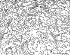 Flowery, flowers, paisley, free printable adult coloring pages Printable Adult Coloring Pages, Coloring Book Pages, Coloring Sheets, Doodles Zentangles, Floral Illustrations, Story Books, Stencils, Tapestry, Landscape