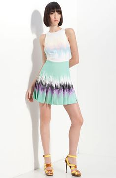 wish this were just the skirt...love the soft color combo for spring/summer