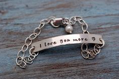 I love you more. I say this allthe time! I should make this for my girls for Valentines!