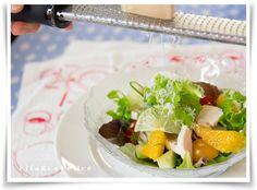 自家製鶏ハムと柑橘類のサラダ |La Felice 旬菜料理教室