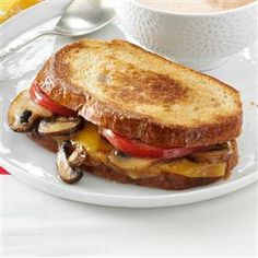 Portobello-Gouda Grilled Sandwiches Recipe -Take a simple grilled cheese sandwich to the next level with the earthy, rustic flavors of portobello mushrooms and gouda cheese. —Sheryl Bergman, Shady Side, Maryland