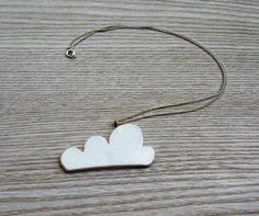 Ceramic Cumulus pendant.  Made by one artist's dirty hands on legood.etsy.com.
