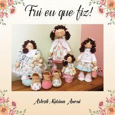 Bonecas feitas pela artesã Karina Anoni do Patch & Boneca Ateliê com tecidos da coleção Shabby Chic.  Um amor! <3
