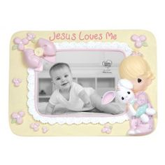 Jesus Loves Me - Girl Photo Frame