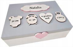 Baby Crafts, Cute Crafts, Crafts For Kids, Baby Keepsake, Keepsake Boxes, Wooden Memory Box, Cute Birthday Gift, Baby Baptism, Baby Box