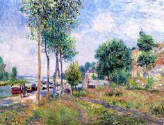Alfred Sisley - Entre Moret et Saint-Mammès
