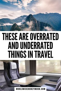 These are overrated and underrated things in travel | Underrated travel destinations | Overrated travel destinations | Underrated places to travel | Overrated places to travel | Business Class Flight | Train Travel Overrated or Underrated? | Overrated Cities | Underrated destinations in the world | Travel Podcast | Podcasting | Destinations in the World Packing List For Travel, Cruise Travel, Solo Travel, Europe Packing, Traveling Europe, Backpacking Europe, Packing Lists, Cruise Tips, Travel Goals