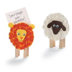 A fun lion and lamb craft for the coming month. Kids of all ages can learn the art of quilling … Kids Crafts, Sheep Crafts, Bug Crafts, Family Crafts, Bible Crafts, March Crafts, Spring Crafts, Lamb Craft, Lion And Lamb