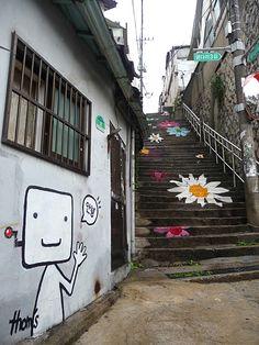 Ihwa-Dong Artistic Village  Hyehwa Stn.(Subway Line 4, Exit 2)  Jongno-gu, Ihwa-dong, Seoul