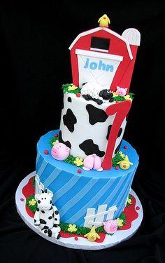 John's First Birthday Farm Cake