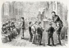 A Victorian classroom or schoolroom  But was 19th century literature destroyed for you by your childhood introduction to it? http://www.secretvictorianist.com/2014/01/teaching-victorian-literature-or-true.html