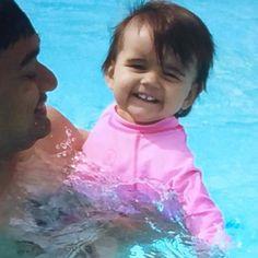 "Baby Maya ""goes swimming"" summer 2015."