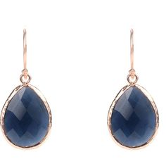 Latelita London Petite Sapphire Hydro ($59) ❤ liked on Polyvore featuring jewelry, earrings, navy blue, navy blue drop earrings, sapphire earrings, drop earrings, sapphire drop earrings and navy blue jewelry