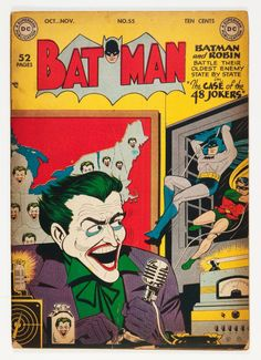 Dick Sprang | Batman #55 | DC | 1949 -- 48 states in '49 -- and not one of those jokers thought to close his window.