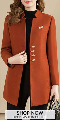 Coat kpop fashion outfits for women. Sual and elegant style you may love. Kpop Fashion Outfits, Mode Outfits, Stylish Outfits, Fashion Dresses, Coats For Women, Clothes For Women, Strapless Jumpsuit, Embroidery Fashion, Elegant Outfit