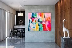 Items similar to Large Abstract Painting,Large Abstract Painting on Canvas,square painting,acrylic abstract,oil painting canvas on Etsy Oversized Canvas Art, Large Canvas Art, Abstract Canvas Art, Large Painting, Oil Painting Abstract, Painting Canvas, Large Art, Bright Paintings, Unique Paintings