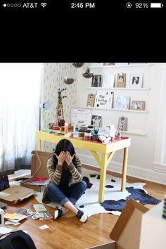Shelves idea from a beautiful mess blog